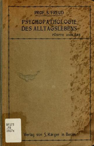 Zur Psychopathologie des Alltagslebens book cover